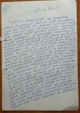 Manuscris al scriitorului Cezar Ivanescu ; Ce poti sa faci? , 9 pagini