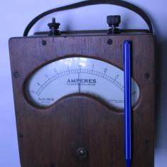 Ampermetru  de colectie vechi cca anul 1900 aparat masura radio fonist