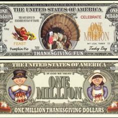 !!! SUA = FANTASY NOTE = CURCANUL DE THANKSGIVING - 2012 - UNC - bancnota america