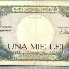 A1040 BANCNOTA-ROMANIA-1000 LEI-10 OCTOMVRIE1944-SERIA 3361-starea care se vede - Bancnota romaneasca