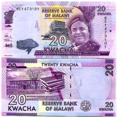 MALAWI- 20 KWACHA 2016- NEW- UNC!! - bancnota africa