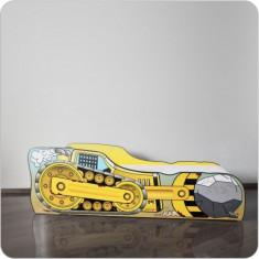 Pat copii Excavator - Pat tematic pentru copii, Altele, Alte dimensiuni, Galben