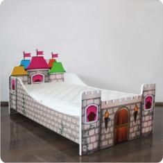 Pat copii Castel - Pat tematic pentru copii Altele, Altele, Alte dimensiuni, Multicolor