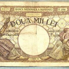 A1049 BANCNOTA-ROMANIA-2000 LEI- 10 OCTOMVRIE 1944-SERIA2996-starea care se vede - Bancnota romaneasca