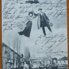 Buzias, circulata la Timisoara, 1904, clasica, impecabila - Carte Postala Banat pana la 1904, Printata