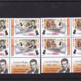 ROMANIA 2006 LP1750 LP 1750 a LEUL NOU 200 RON BLOCURI DE 4 TIMBRE SI 2TABS MNH - Timbre Romania, Nestampilat