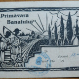 Talon de abonament la ziarul Primavara Banatului , Lugoj , 1940