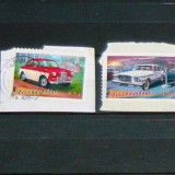 Serie 4 timbre uzate MASINI AUTOMOBILE adezive Australia 2+1 gratis RBK20115 - Timbre Romania, Nestampilat