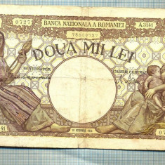 A1042 BANCNOTA-ROMANIA-2000 LEI- 10 OCTOMVRIE 1944-SERIA3141-starea care se vede - Bancnota romaneasca