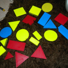 Set figuri geometrice, model vintage, ideale pt scolari sau prescolari, LOGI II - Jocuri Stiinte, 4-6 ani, Unisex