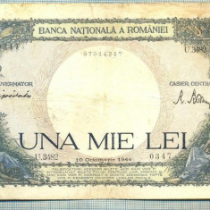 A1032 BANCNOTA-ROMANIA-1000 LEI-10 OCTOMVRIE 1944-SERIA 3482-starea care se vede - Bancnota romaneasca
