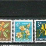 Serie 3 timbre uzate NATURA PLANTE FLORI Noua Zeelanda 2+1 gratis RBK20117 - Timbre Romania, Nestampilat