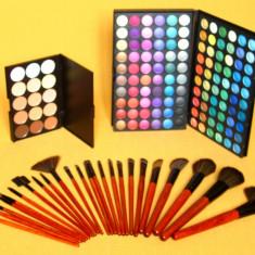 Trusa machiaj farduri MAC 120 culori 24 pensule fond de ten corector concealer ! - Trusa make up