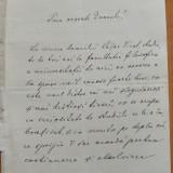 Scrisoare olografa I. G. Sbiera , Cernauti , 1882 ; Societatea Transilvania
