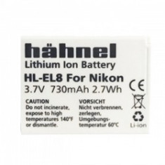 Hahnel HL-EL8 - acumulator replace HL-EL8 tip EN-EL8 730mAh - Baterie Aparat foto