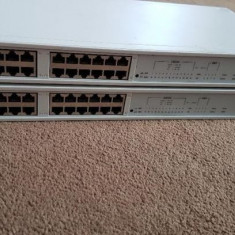 2x stackabke 3Com Link Builder FMS II 24-Port Ethernet Network - Switch