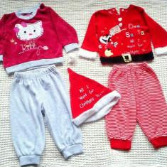 Costumase Mos Craciun si Hello Kitty 6-9 L - Costum copii, Marime: M/L, Culoare: Rosu