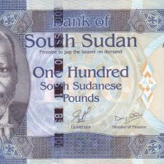 Bancnota Sudanul de Sud 100 Pounds 2011 - P10a UNC - OFERTA!!