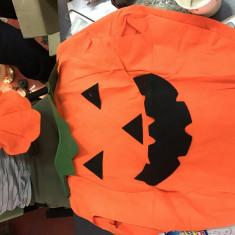 Costum Halloween Dovleac orange pentru copii 3-4 ani, o singura marime, Marime: XS, Culoare: Galben