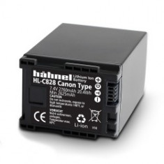 Hahnel HL-C828 - acumulator Li-Ion tip Canon BP-827/BP-828, 2760mAh - Baterie Aparat foto
