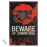 Plăcuță decorativă metal Câinele zombi