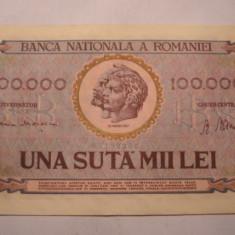 100000 lei 1947 Ianuarie XF