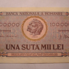 100000 lei 1947 Ianuarie XF - Bancnota romaneasca