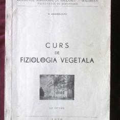 """CURS DE FIZIOLOGIA VEGETALA"", N. Dorobantu, 1976. Curs litografiat - Curs diverse stiinte"