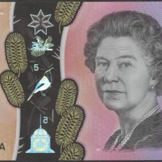 Bancnota Australia 5 Dolari 2016 - PNew UNC ( polimer - desen nou )
