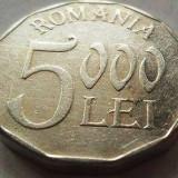 Moneda 5000 Lei - ROMÂNIA, anul 2002 *cod 3469 Allu - Moneda Romania, Aluminiu