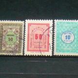 Lot 3 timbre de taxa vechi Turcia 2+1 gratis RBK20212, Stampilat