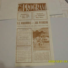program         FC  Maramures  B.M. -  Jiul Petrosani