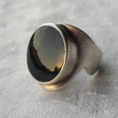 Inel argint cu Onix Elegant executat manual vechi patina frumoasa Vintage