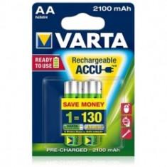 Varta - Acumulatori reincarcabili AA R3 2100 mAh, blister 2 buc. - Baterie Aparat foto