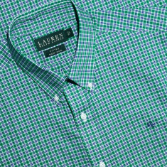 Camasa Ralph Lauren | Fitted non iron 39 (M) - Camasa barbati Ralph Lauren, Culoare: Verde, Maneca lunga