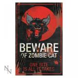 Plăcuță decorativă metal Pisica zombi