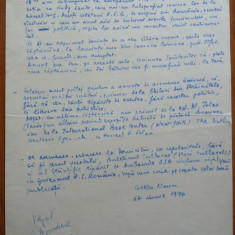 Pagina manuscris Gellu Naum, 1970, avangardist - Autograf