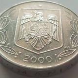 Moneda 500 Lei - ROMÂNIA, anul 2000 *cod 3471 Allu-xF+ - Moneda Romania, Aluminiu