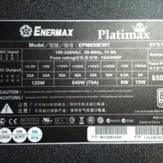 SURSA ENERMAX PLATIMAX 850W - Sursa PC