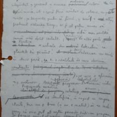 Eseu literar scris olograf de Nicolae Manolescu pe 6 pagini si semnat - Autograf