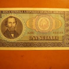 Bancnota 100 Lei 1966, cal.F.Buna - Bancnota romaneasca