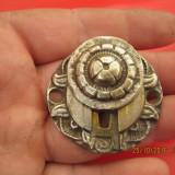 Vintage -ornament incuietoare Seif, vechi din alama - Metal/Fonta