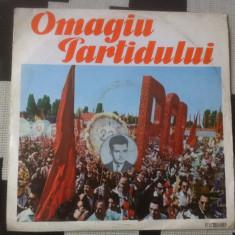 Omagiu Partidului 1921 1971 muzica corala patriotica disc vinyl lp exe 514 rar, VINIL, electrecord