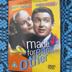 MADE FOR EACH OTHER (1 DVD ORIGINAL cu JAMES STEWART - CA NOU!!!) - Film romantice, Engleza