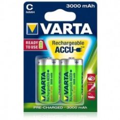 Varta - Acumulatori reincarcabili C 3000 mAh, blister 2 buc. - Baterie Aparat foto