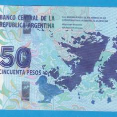 (1) BANCNOTA ARGENTINA - 50 PESOS, STARE AUNC - bancnota america