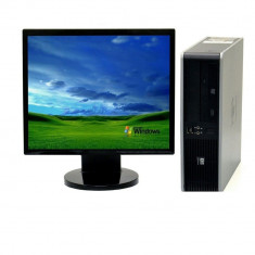 Sisteme HP, AMD Dual Core 5200 2.7GHz, 2GB, 160GB, DVD-Rw, monitor 17