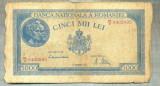 A1083 BANCNOTA-ROMANIA-5000 LEI-15DECEMVRIE1944-SERIA0402895-starea care se vede