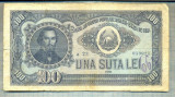 A1098 BANCNOTA-ROMANIA(RPR) - 100 LEI- 1952 -SERIA 059021 -starea care se vede