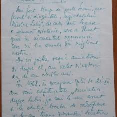 Scrisoare a Prof. Alexandru Socoleanu de la Liceul Nicu Gane din Falticeni, 1969 - Autograf
